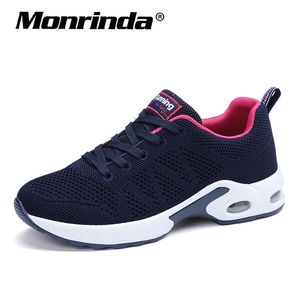 Nouvelles baskets femmes respirant maille chaussures de course femme amortissement chaussures de Sport femme en plein air marche Zapatos dame Sport chaussure 8.5