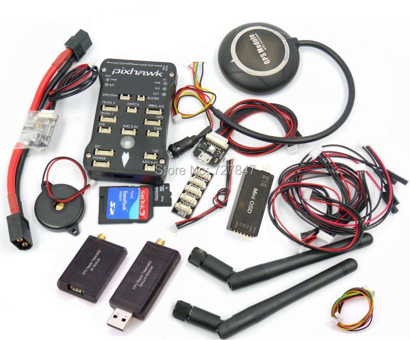Pixpilot Pixhawk v2.4.7 (v2.4.6) open-hardware Autopilot Flight Controller +I2C+RGB+ Neo M8N GPS +Minim OSD+PM +433 Telemetry