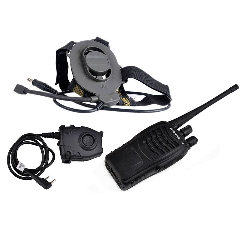 Z Tactical Military Airsoft Paintball Hunting Sniper Bowman Elite II Headset Z 027 Fit All PTT Plug BLACK and FG