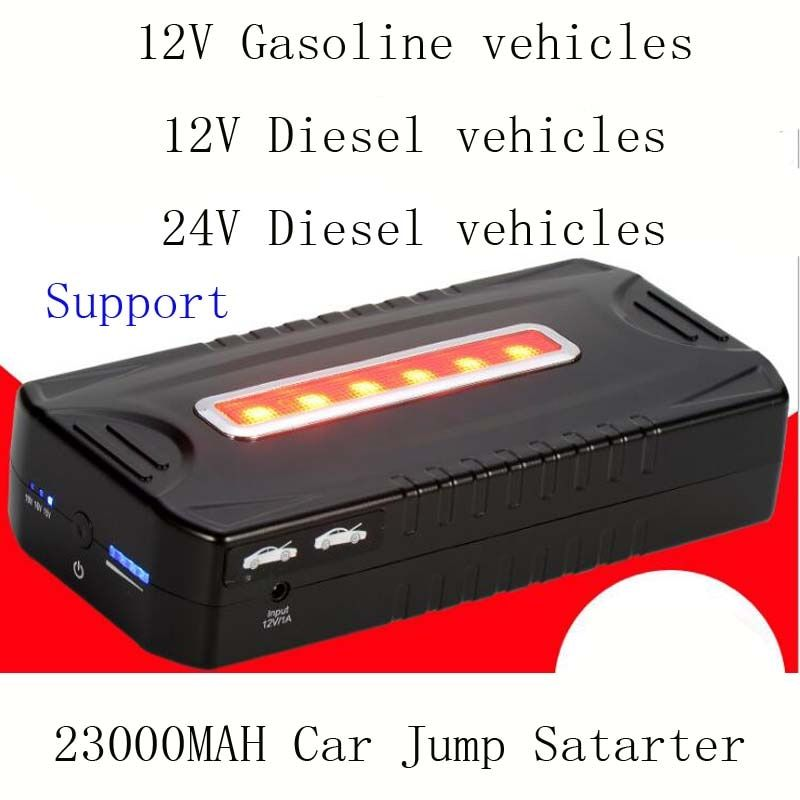 New 23000mAh Car Jump Starter Mini Portable Emergency Car Battery Charger Power bank Work 12V 24V Gasoline Diesel Vehicles
