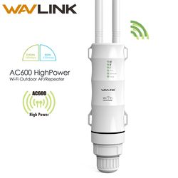 Wavlink AC600 30dbm High Power Outdoor Tahan Cuaca Wireless WIFI Router/AP Repeater Dual Band 5G/2.4G luar Dilepas Antena