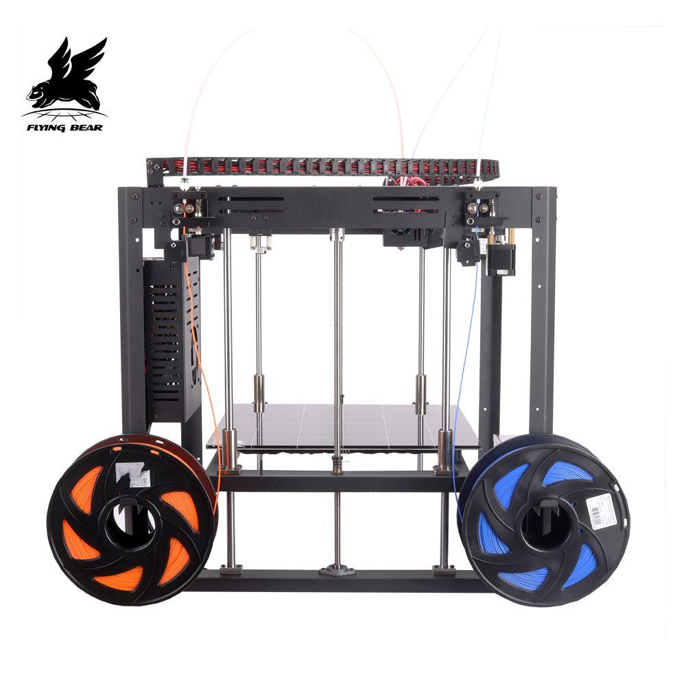 Hot Sale Flyingbear Tornado 2 DIY Full metal Linear rail 3d printer with Large printing Size