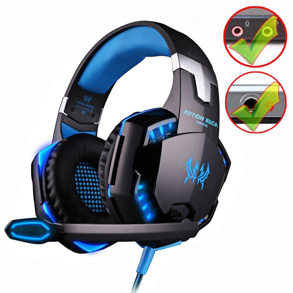 KOTION JEDER G2000/G9000 Gaming Headset Deep Bass Stereo Computerspiel Kopfhörer mit mikrofon PC professionelle Gamer