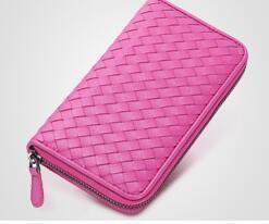 2017 new fashion echtes leder brieftasche mit box hochwertige reißverschluss geldbörse kostenloser versand
