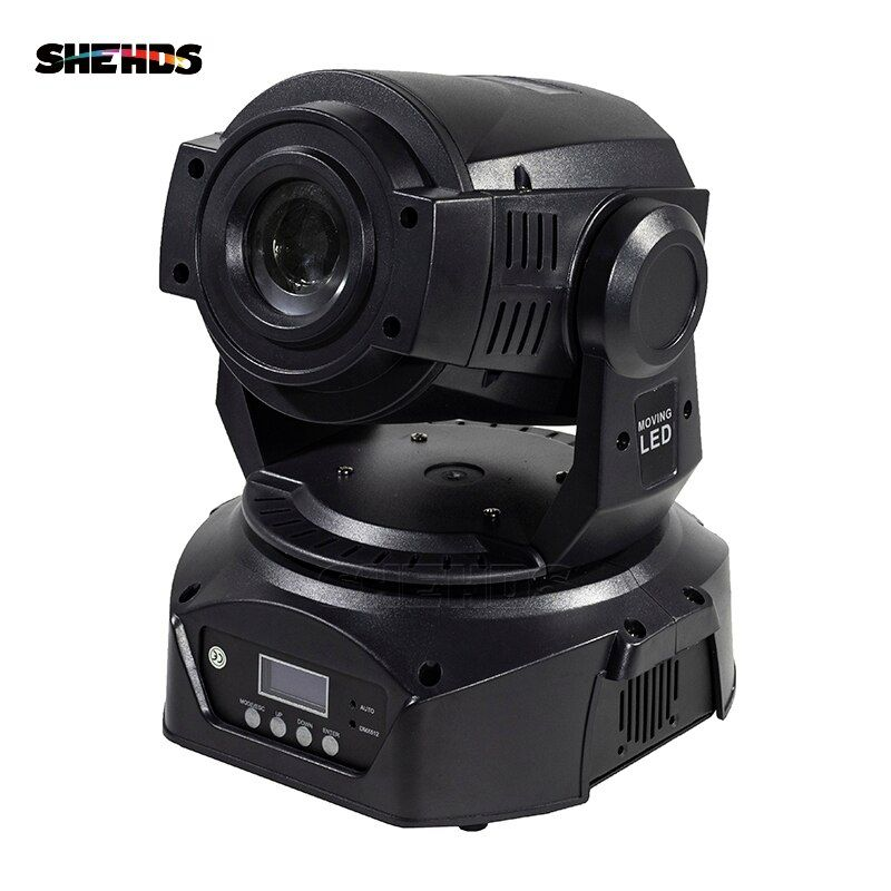 LED 90W Gobo light projector Spot/Pattern Rotation With LCD Display With 6 Face Prism DMX Stage Lighting Effect For Weeding Host