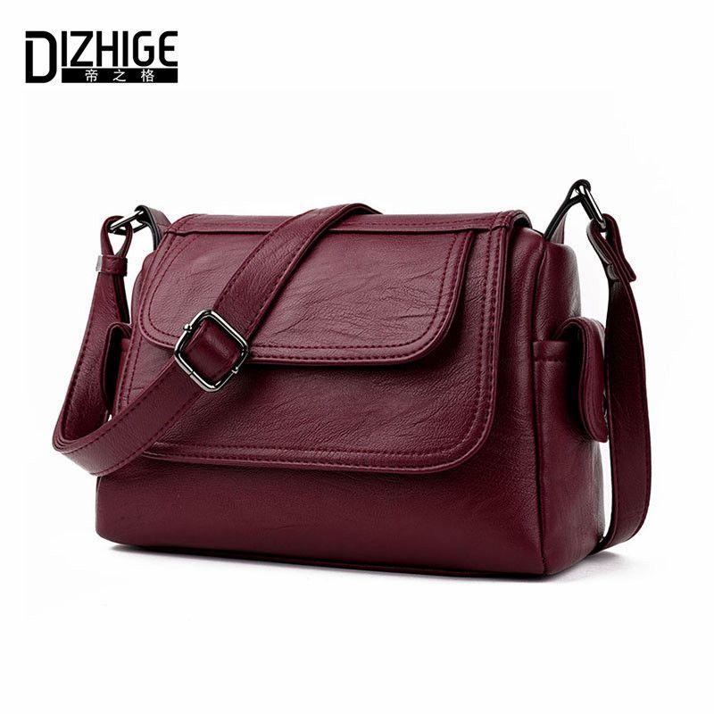 DIZHIGE Brand 2017 Spring <font><b>Summer</b></font> Fashion Crossbody Bags Single Shoulder Bags Ladies PU Leather Bags Women Handbags New Sac Femme
