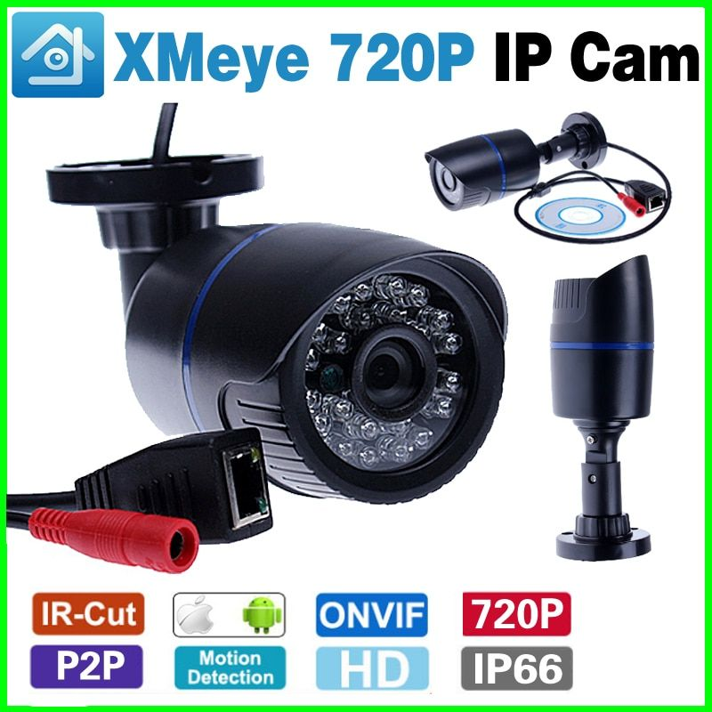 Onvif Wired 720P 960P 1080P IP Camera P2P Motion Detection RTSP 48V POE Email Alert XMEye Waterproof ip66 Outdoor 1MP 1.3MP 2MP
