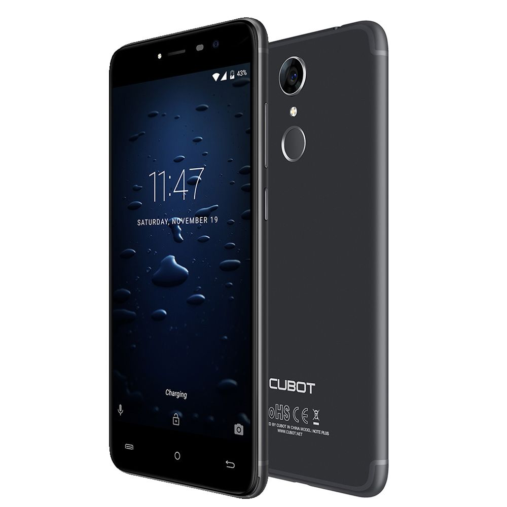 Cubot Note Plus 4G Smartphone 5.2 inch Android 7.0 MTK6737T Quad Core 1.5GHz 3GB RAM 32GB ROM 13.0MP Rear Camera Fingerprint UK