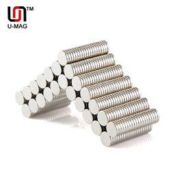 100 piezas fuerte 8x1,5mm ronda Dia. 8mm x 1,5mm N50 arte del imán del neodimio de la tierra rara refrigerador Venta caliente