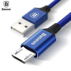Baseus micro cable USB 2a carga rápida de sincronización de datos microusb para Samsung Huawei xiaomi HTC LG Android Cables para móviles