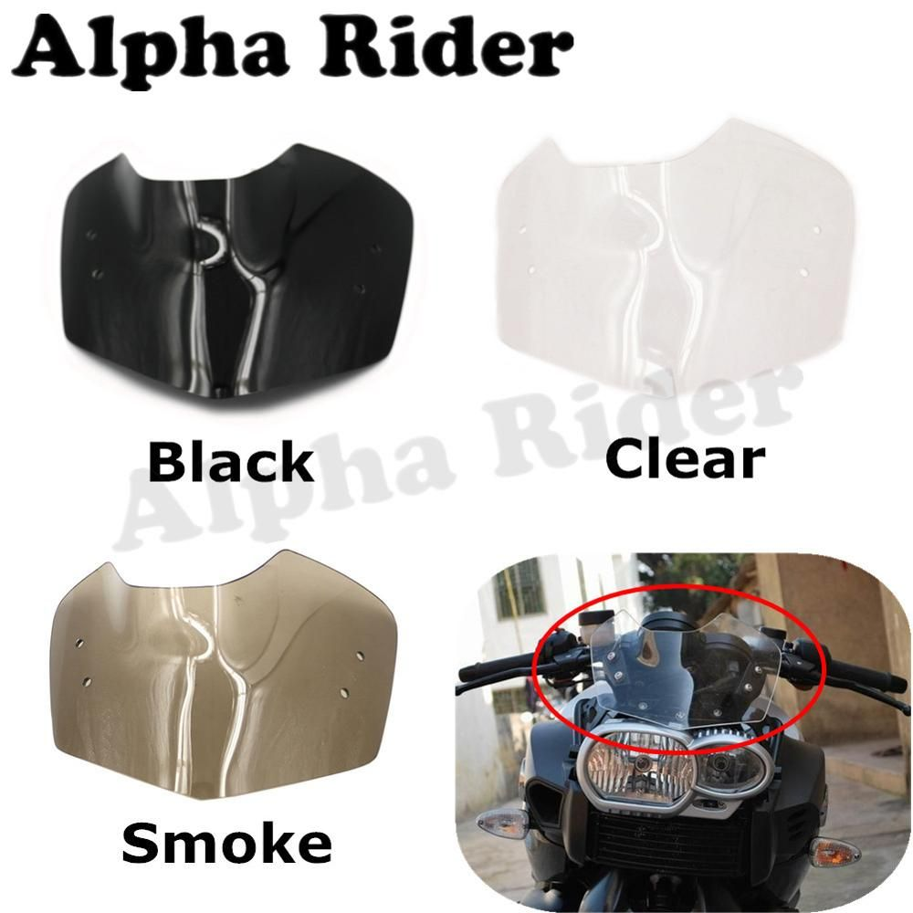 Motorcycle Windshield WindScreen for BMW K1200R Sport K1300R 2005-2015 Fly Screen Windproof Front Shield Glass Airflow Deflector