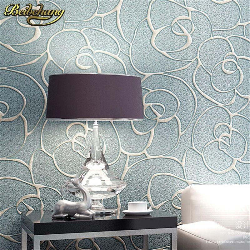 Beibehang Relief Rosen Tapete für Wohnzimmer Schlafzimmer Wandbild papierrolle Desktop TV Hintergrund 3D wallpaper für wände 3 d