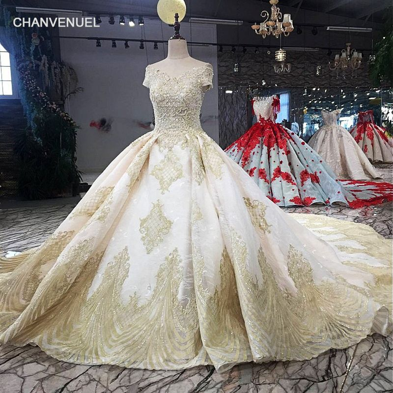 LS39403 A-line shiny evening dress v-neck off shoulder lace up beading formal party dress with long train 2018 new design