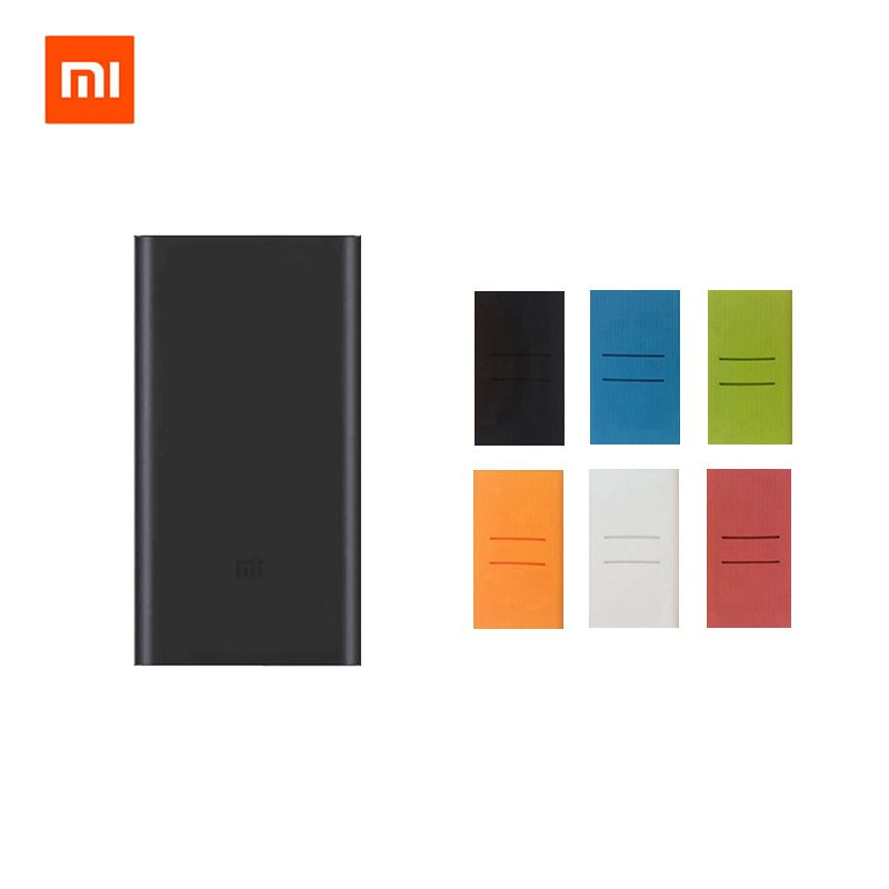 Original Xiaomi Mi 10000 mAh Powerbank 2 Quick Charge 10000 mAh Power Bank 2nd External Battery Pack with Color Case