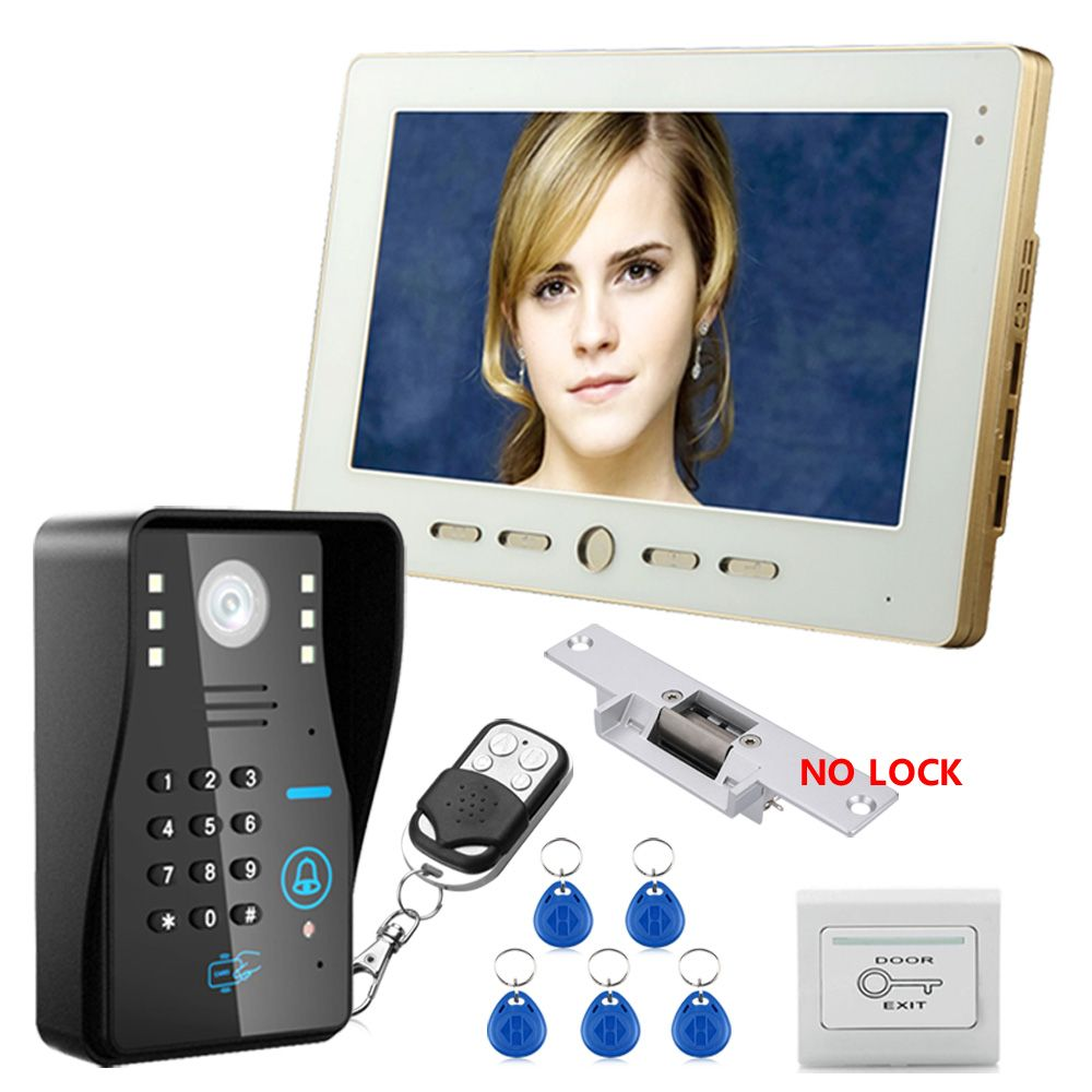 FREE SHIPPING Home Security 10 inch TFT LCD Monitor Video Door phone Intercom System With Night Vision Outdoor Camera IN STOCK