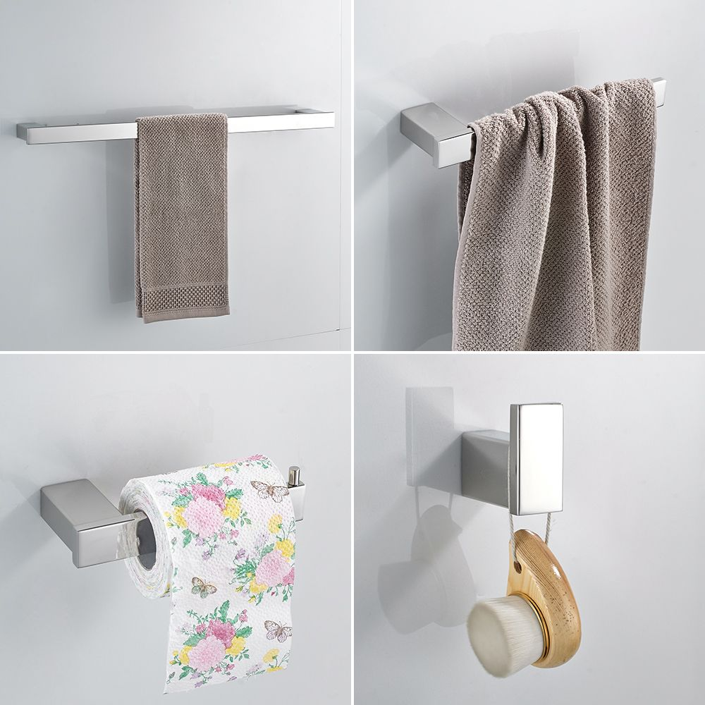 Paper Holders Euro style Bathroom <font><b>Accessories</b></font> Stainless Steel Bath Hardware Set Bathroom fitting Towel ring Towel ring WF-610000