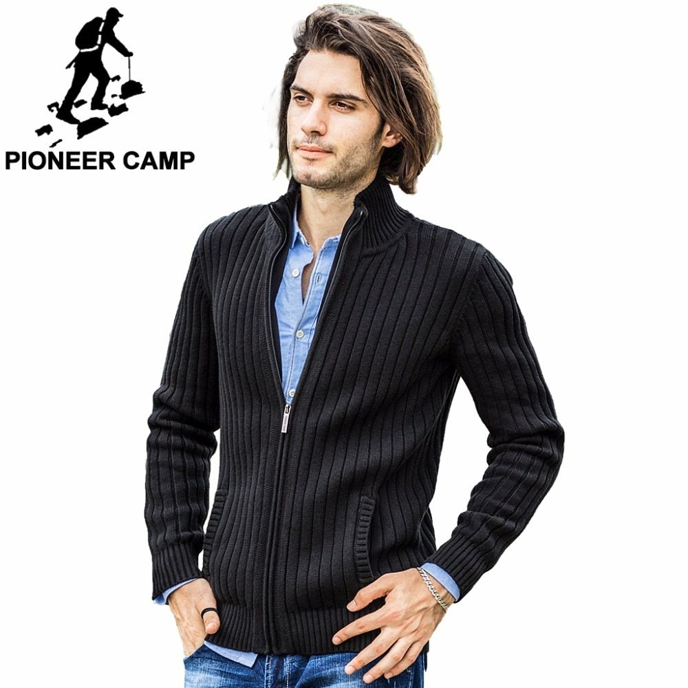 Pioneer <font><b>Camp</b></font> cardigans men sweaters new 2017 knitwear zipper cardigan Top quality brand clothing fashion male christmas sweater