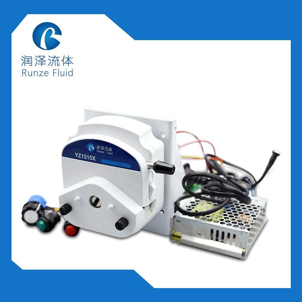 YZ15 Elektrische Peristaltische Dosierung Pumpe 24 v Geschwindigkeit Einstellbar 1750 ml/min mit Fahrer Adapter