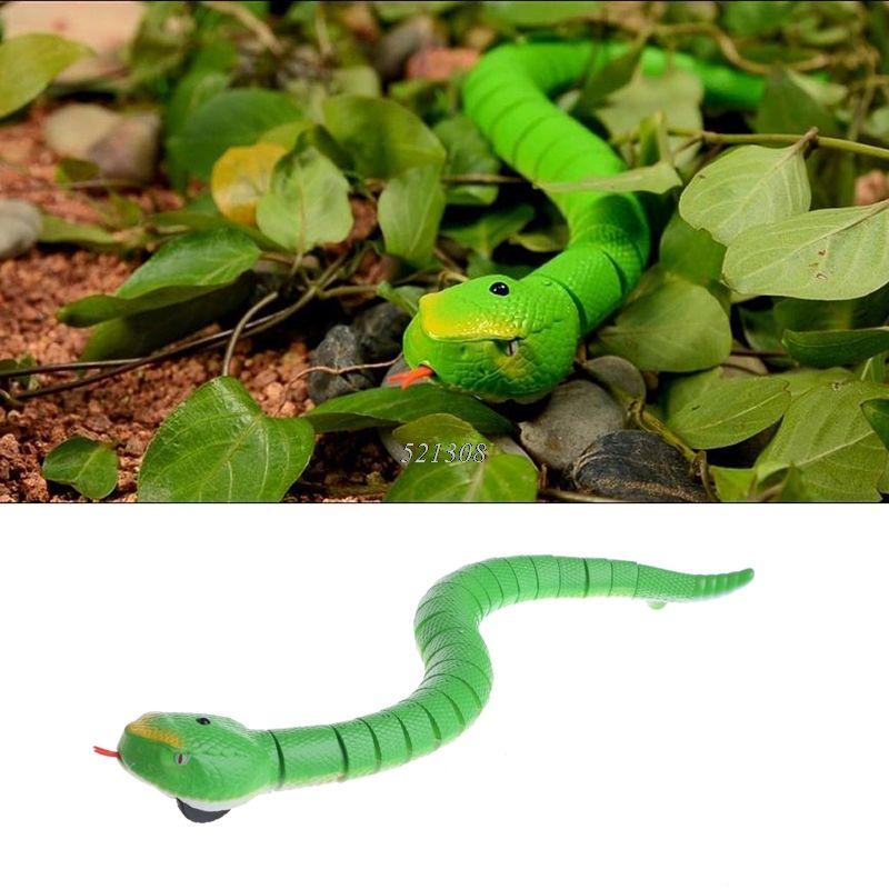 2017 Novelty Remote Control Snake Rattlesnake Animal Trick Terrifying Mischief Toy MAR3_15