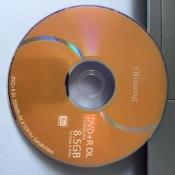 10 discs Less than 0.3% Defect Rate D9 8.5 GB Gold Blank Printed DVD+R DL Disc