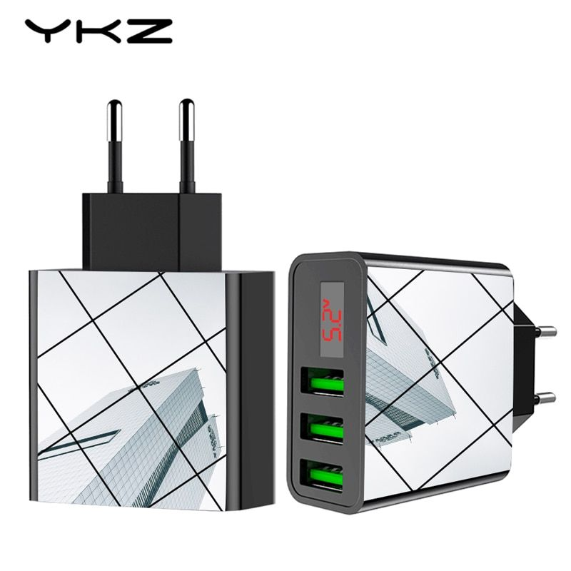 Mobile Phone Charger,LED Display 3 USB Charger for iPhone Samsung Xiaomi Travel Wall Charger for Phone Charging Usb Adapter