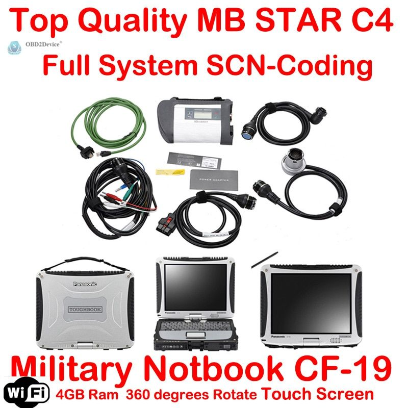 Warranty Quality A+++MB Star C4 SD Connect 4 With 2018.03 Vediamo+DTS For Mb star SD Compact 4 Multiplexer car diagnostic tool