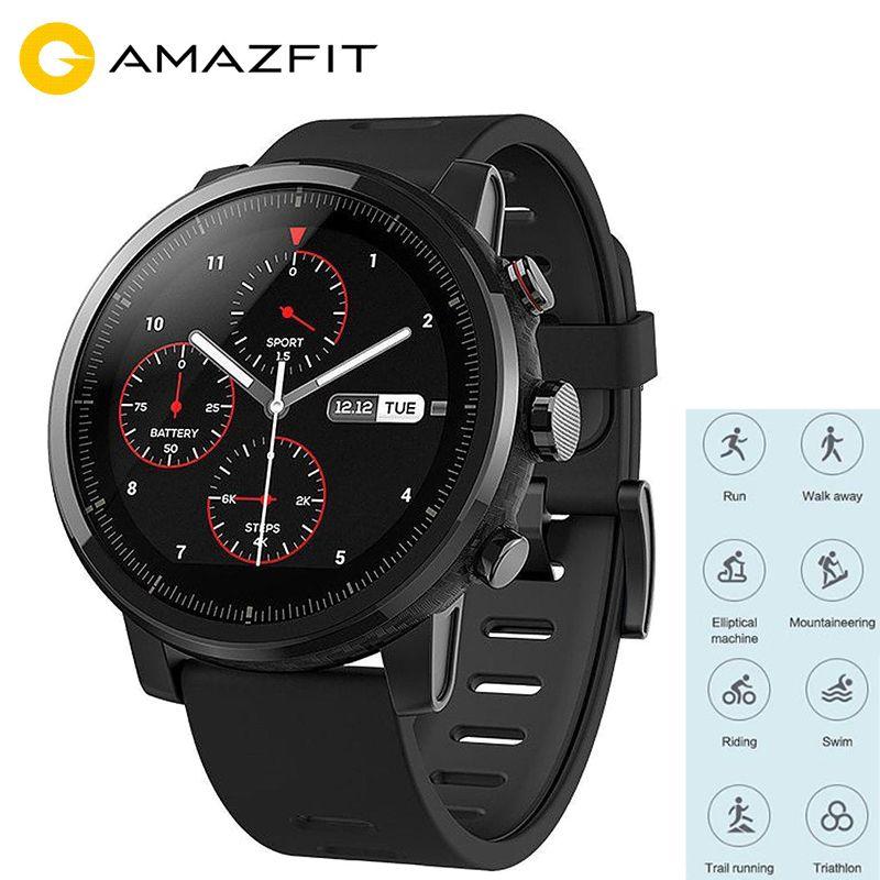 Huami Amazfit Smart Sportuhr 2 Gesundheit Tracker GPS 5ATM Wasserdicht 1,34 ''2.5D TouchScreen GPS Firstbeat Englisch Version