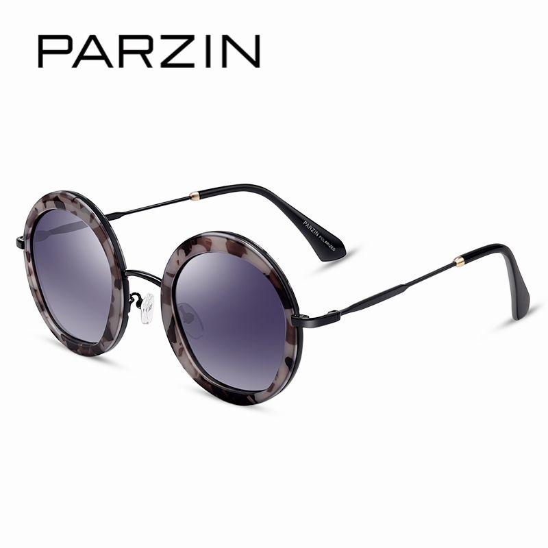 PARZIN Brand Designer Geometric Sunglasses For Women Quality Polarized Sun Glasses Driving Eye wear With Original Box 9516  N