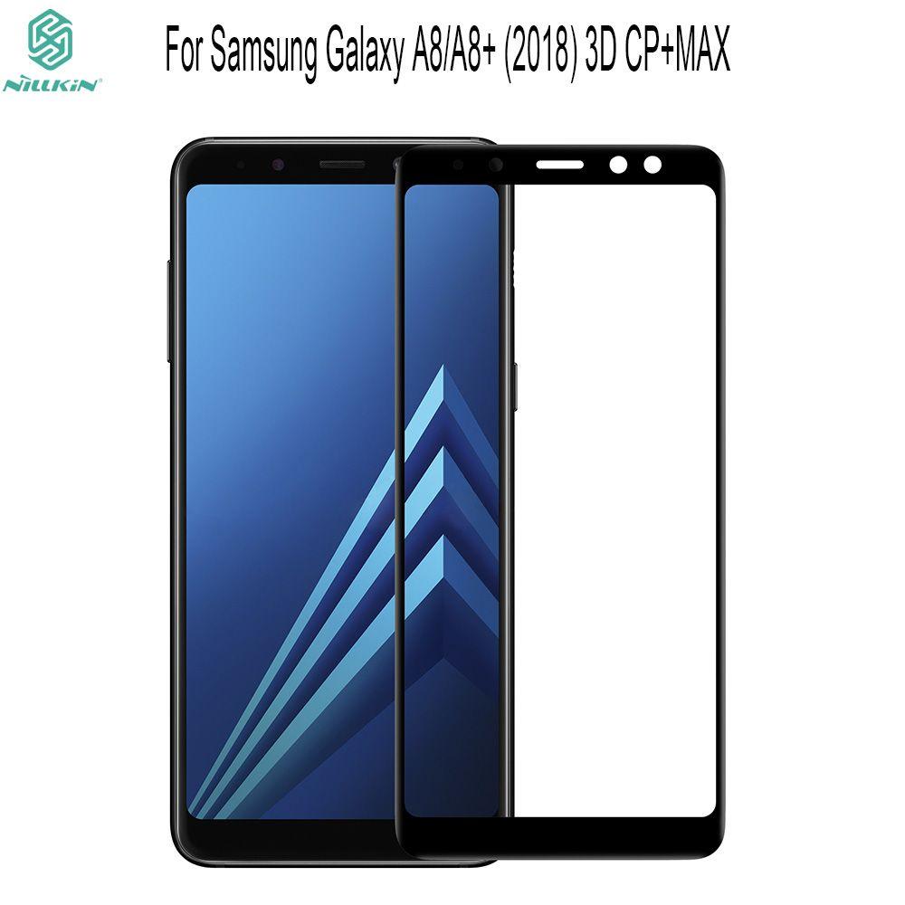 NILLKIN Erstaunlich 3D CP + MAX Nanometer Anti-Explosion 9 H Hartglas Displayschutzfolie Für Samsung Galaxy A8/A8 + 2018 Glas film