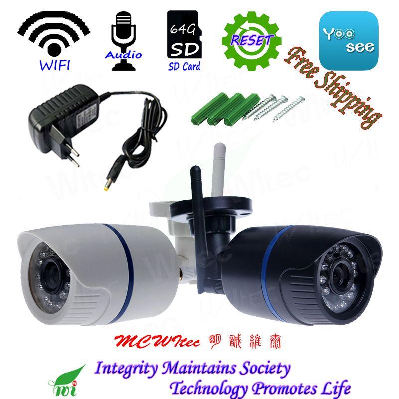 RTSP IPC 64g SD Karte WIFI 1080 p 960 p 720 p IR Outdoor Bullet ONVIF Sicherheit Alarm NightView p2P IP Cam Reset CCTV Audio Kamera