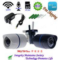 RTSP IPC 64 г SD карты WI-FI 1080 P 720 P ИК Открытый Пуля ONVIF охранной сигнализации NightView P2P IP Cam сброса CCTV Аудио Камера
