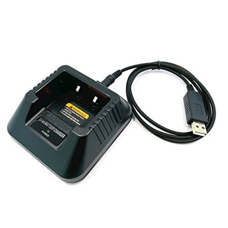 Original USB Cable Cargador Para Portátil Baofeng UV-5R DM-5R BF-F8HP Plus Serie Radios de Dos Vías Walkie Talkie
