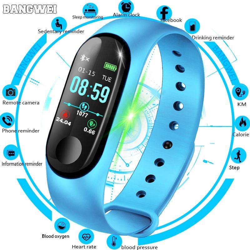 BANGWEI femmes montre intelligente hommes fréquence cardiaque pression artérielle oxygène sommeil moniteur podomètre Fitness Sport montres pour hommes Android IOS
