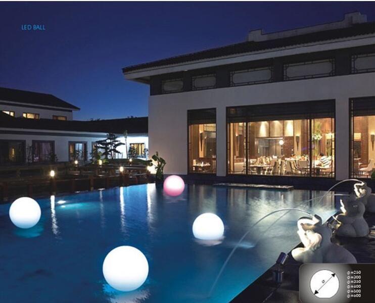 30cm IP68 LED Floating Ball/LED Magic Ball led illuminated swimming pool ball light