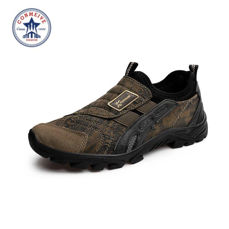 2018 réel nouveau moyen (b, m) Eva les nouveaux hommes chaussures de randonnée en plein air Sport antidérapant athlétique Zapatos Hombre livraison gratuite