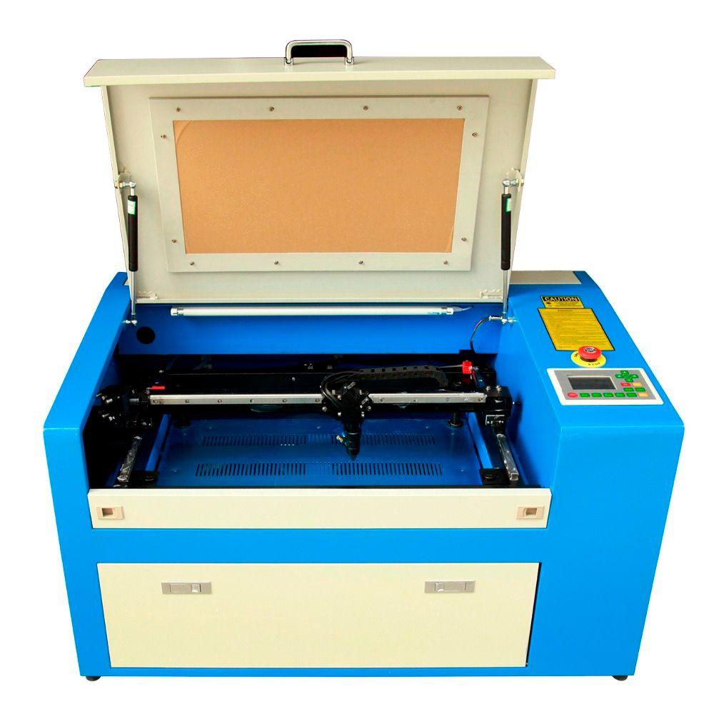 (Schiff aus GROßBRITANNIEN) 350B 50 W CO2 Laser Cutter Gravur Maschine Hilfs Dreh Gerät 0-60000mm
