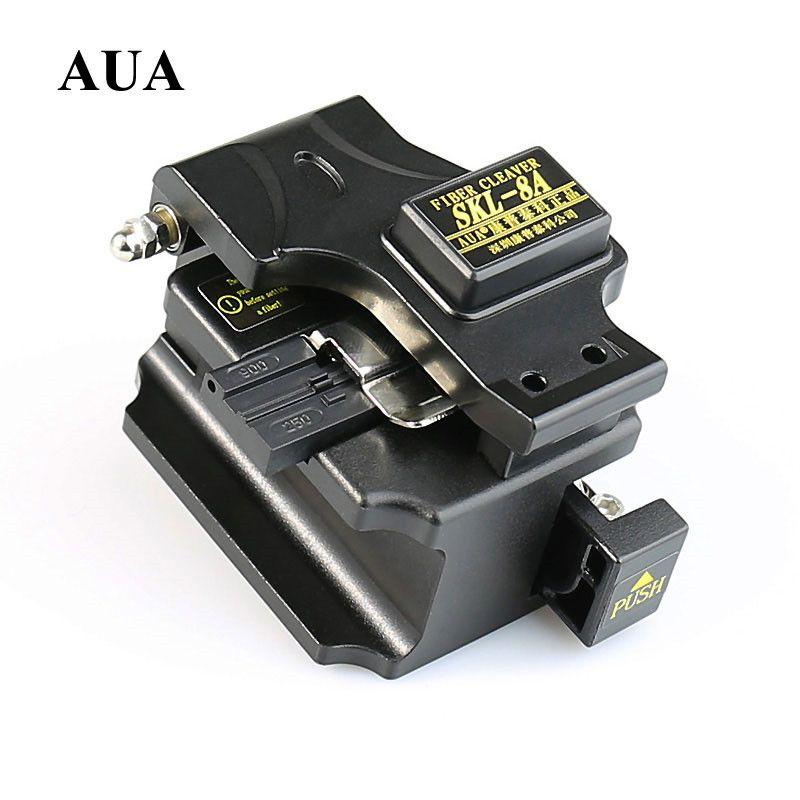 AUA Metall Faser-spalter Kabelschneider SKL-8A Ftth Kalt dann Toolbox Anzug Cutter Genauigkeit von weniger als 0,5 Mit Tasche