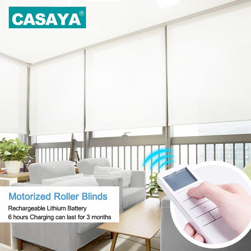 Angepasst Größe Elektrische Roller shades Horizontale Cordless Fenster vorhänge rohr motor Intelligente motorisierte rollos