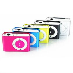Marsnaska  Portable Metal Clip MP3 Player with 8 Candy Colors No Memory Card Music Player with TF Slot
