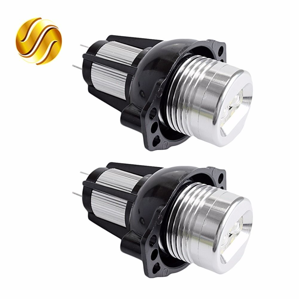 flytop LED Marker Angel Eyes 2*6W 12W for Bridgelux LED Chips White / Blue / Red / Yellow Color for BMW E90 E91 2 Pieces(1 Set)