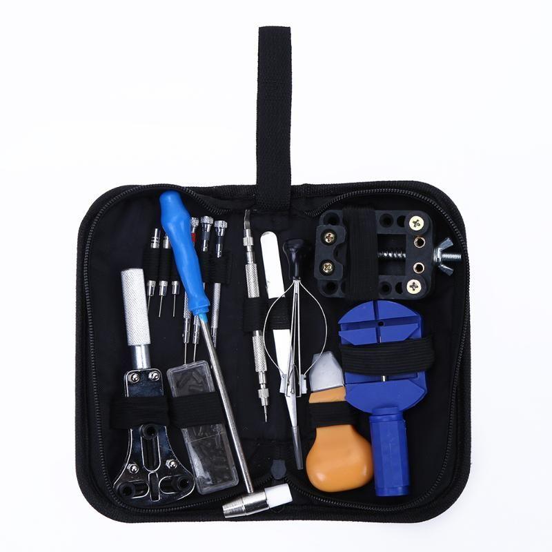 15pcs/lot Watch Repair Tool Kit Set Opener Screwdriver Tweezer Dedicated Device with Bag Case Professional Watchmaker