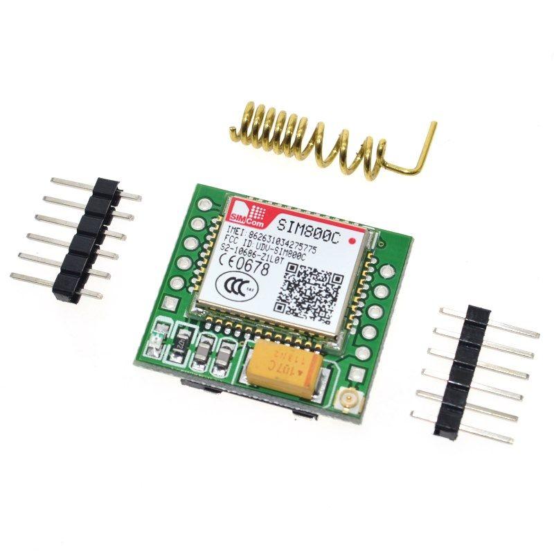 Kleinste SIM800C GPRS GSM Modul MicroSIM Karte Core Board Quad-band TTL Serial Port (Kompatibel SIM800L SIM900A)