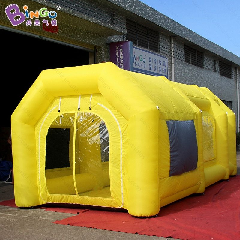 6X3X2.5 meters inflatable yellow spray booth / yellow color inflatable paint booth / inflatable spray paint booth toy tents