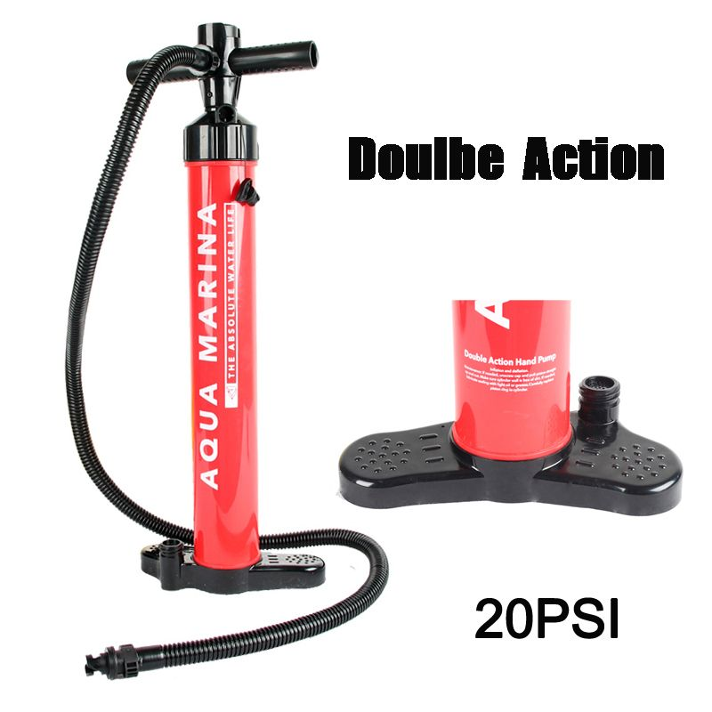 2019 AQUA MARINA high pressure DOUBLE ACTION inflation air hand pump SUP stand up paddle board PVC inflatable fishing boat kayak