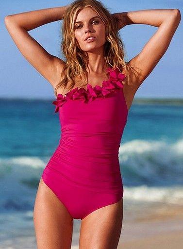 Volants une pièce maillot de bain oversize femmes couverture ventre maillots de bain minceur rétro body maillots de bain Monokini grande taille maillots de bain