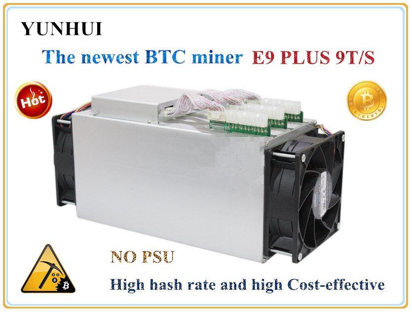 Neueste Bitcoin Miner VERWENDET Ebit E9 Plus 9 T 14nm Asic Miner BTC BCH Miner (kein netzteil) hohe Kosten-effectiv als S9