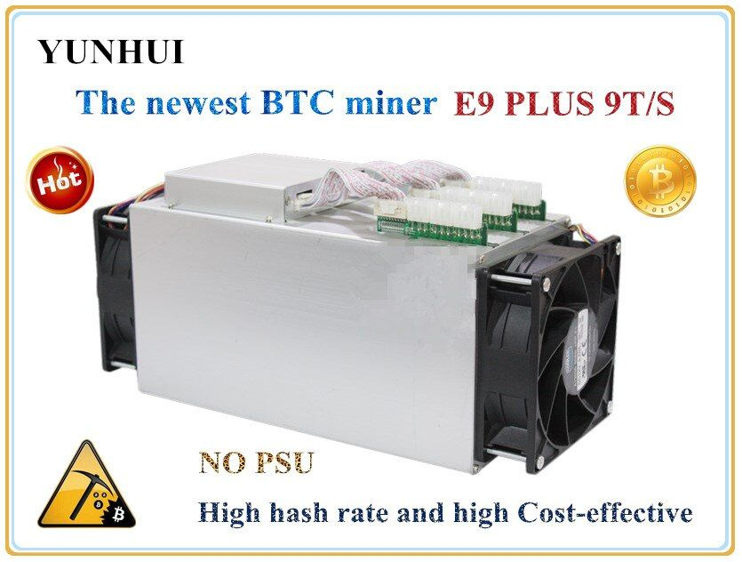 Newest Bitcoin Miner USED Ebit E9 Plus 9T 14nm Asic Miner BTC BCH Miner (no psu) high Cost-effectiv than S9