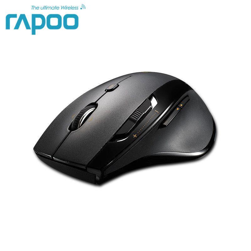 Original Rapoo 5GHz Wireless Gaming Mice with High Speed Laser Mouse 1600DPI Adjustable For Laptops & <font><b>Desktops</b></font> For Big Hand