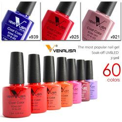 Venalisa nail gel polish 60 color high quality product nail art soak off odorless organic uv gel nail polish varnish gel lacquer