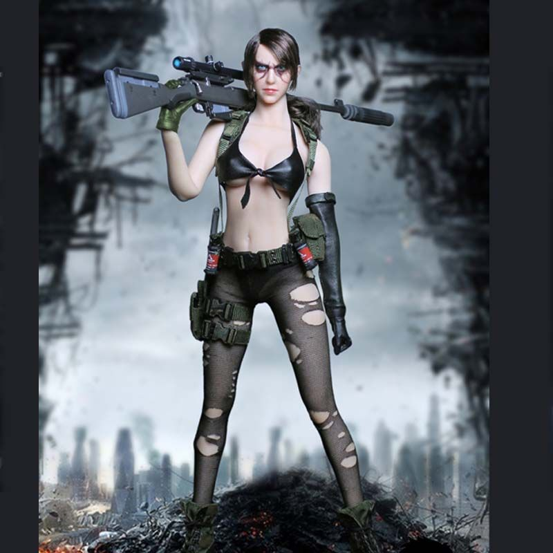 Mnotht 1/6 TOY MT2016-03 Metal Gear Sexy Sniper Quietly Jingjing Female Clothes Model for 12in Soldier Action Figure mb